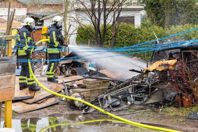 Im Einsatz waren 47 Kameraden der umliegenden Feuerwehren.