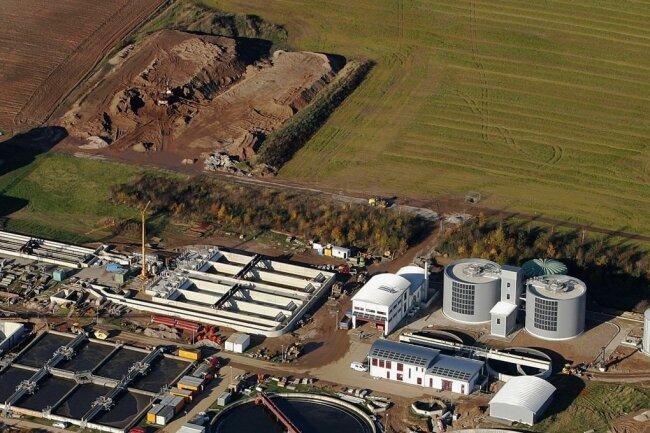 Die größte Kläranlage im Gebiet des Abwasserzweckverbandes befindet sich in Weidensdorf bei Glauchau.
