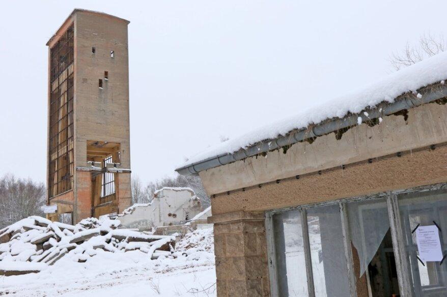 Förderturm in Mülsen wird erst gegen 12 Uhr gesprengt