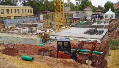 Hier sind künftig zwei Kliniken unter einem Dach.