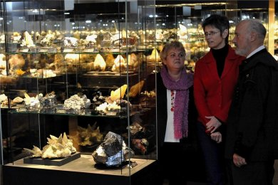 """In der Ausstellung """"Terra Mineralia"""" in Freiberg."""
