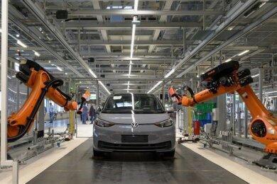 Das Elektroauto ID.3 im Zwickauer VW-Werk.