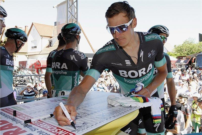 Marcus Burghardt ist bei dieser Tour der einzige deutsche Profi im Team Bora-hansgrohe.