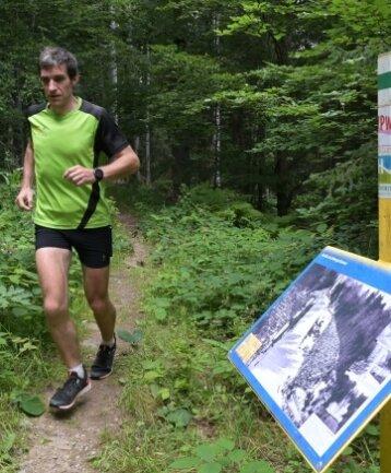 Thomas Ungethüm beim Lauf auf dem Panoramaweg.