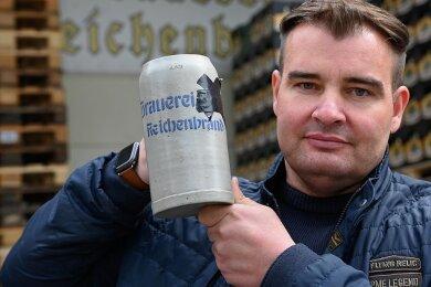 """Michael Bergt leitet in Reichenbrand in fünfter Generation die älteste Privatbrauerei der Stadt. Die Wiederbelebung der Traditionsmarke """"Bergt-Bräu"""" hat eine Brauerei nahe Ulm nun ausgebremst. l"""