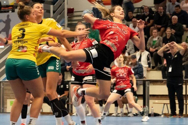 Die Chemnitzerin Izabela Rzeszotek war mit fünf Treffern die erfolgreichste Werferin des HV.