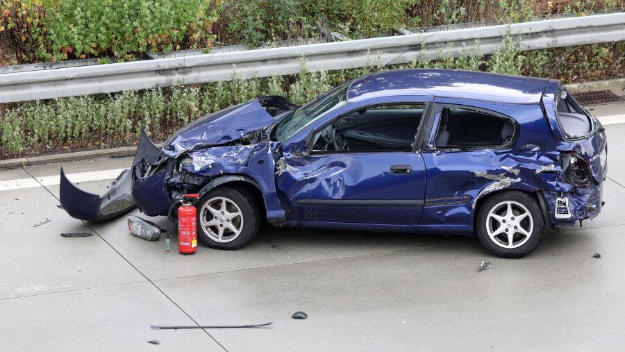 Unfall auf A 4 bei Anschlussstelle Glauchau-West