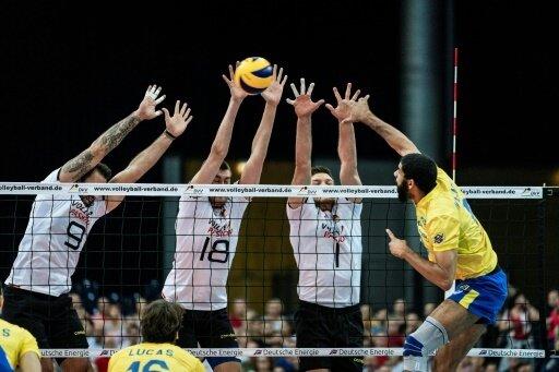 Die deutschen Volleyballer unterlagen Brasilien mit 0:3.