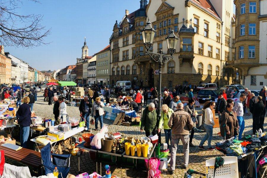 Trödelmarkt in Werdau gut besucht