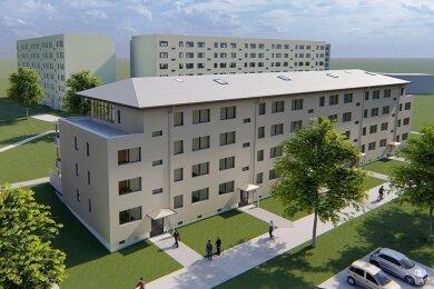 So werden die Wohnblocks nach dem Umbau aussehen.