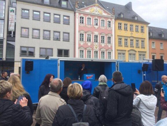 Sachsens AfD-Chef Jörg Urban spricht.