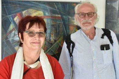 Regina und Wolfgang Blechschmidt stellen in der Kunstwandelhalle Bad Elster aus.
