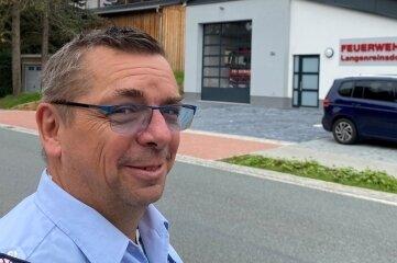 Stolz auf das neue Feuerwehrgerätehaus: Ortswehrleiter Armin Thümmler.