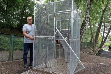 Reinhard Serchen ist am Sonntag gleich zur Hörnchen-Voliere gekommen und hat sich angeschaut, was dort passiert ist.