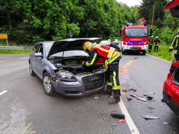 Ein Renault war mit einem Audi kollidiert.