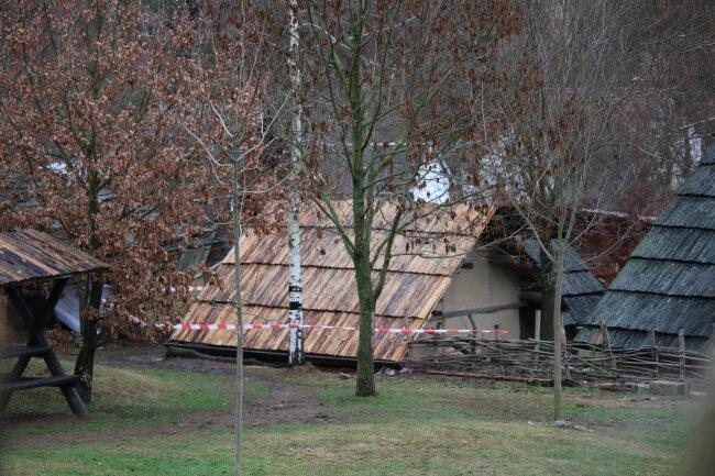 Die Bergstadt Bleiberg am Tag nach dem Brand.