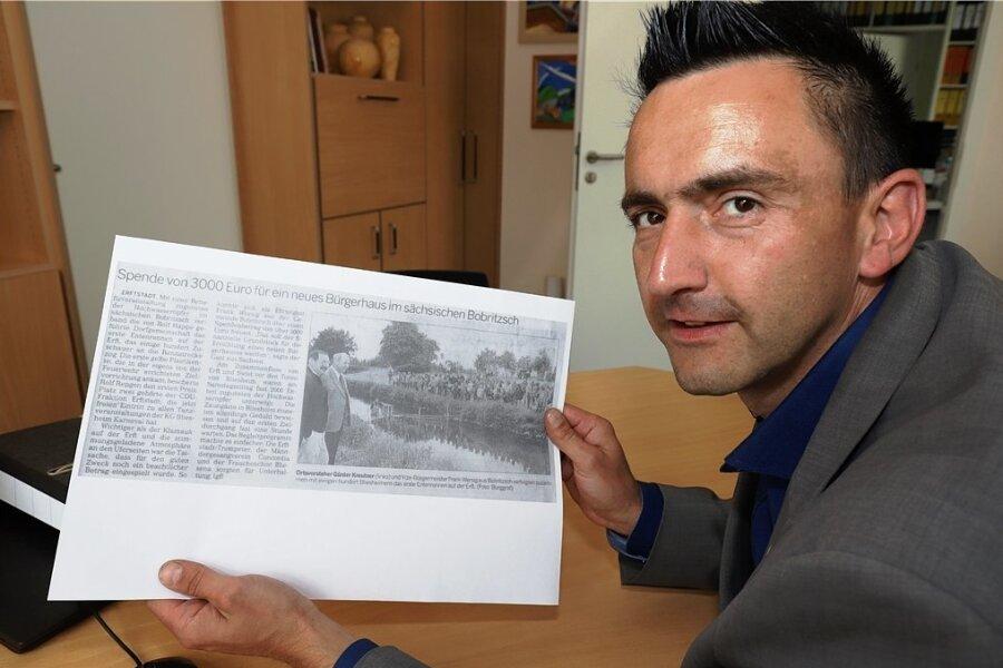 Einst halfen die Menschen in Bliesheim bei Köln der vom Hochwasser 2002 getroffenen Gemeinde Bobritzsch. Nun hat der heutige Bobritzsch-Hilbersdorfer Bürgermeister René Straßberger ein Spendenkonto für Bliesheim eingerichtet. Und der halbe Ort trommelt mit, es zu füllen.