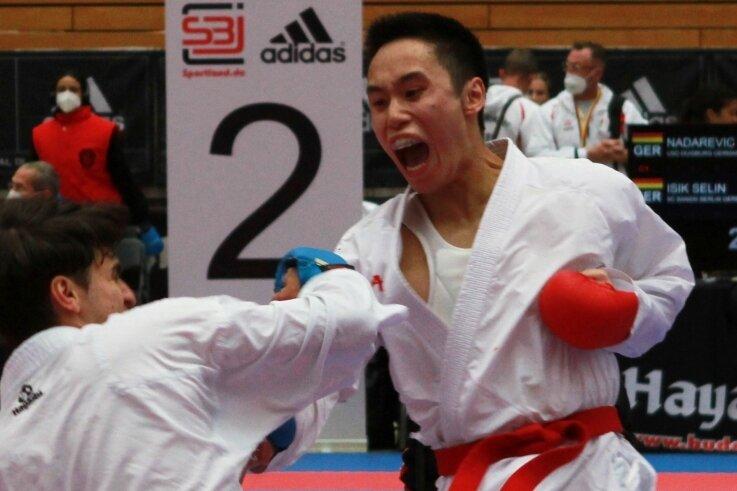 Giang Nguyen (r.), hier in einem früheren Kampf, gewann beim Randori in Waltershausen eine Goldmedaille.