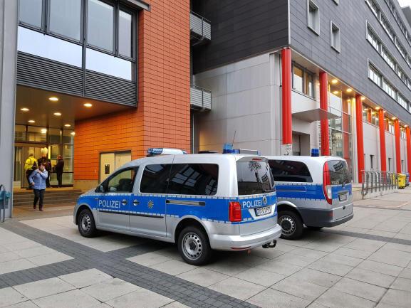 Das evakuierte Bürgerzentrum Moritzhof.