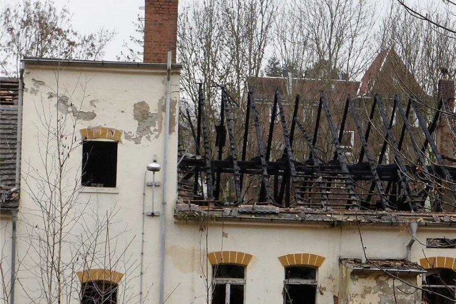 So sieht die Brandruine in Crimmitschau aus.