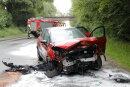 Bei dem Unfall wurden die Renault-Fahrerin und die Skoda-Fahrerin schwer verletzt.