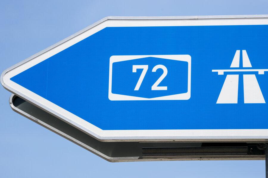 Auf Schildern an A 72 bleibt es trotz Fusion nur bei Aue