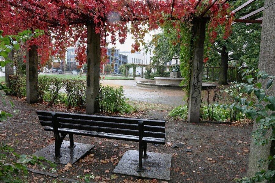 Der Park am Schwanenbrunnen, hier ist die Tat am Samstag geschehen.