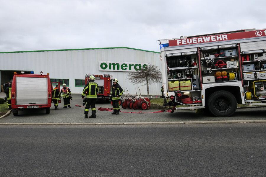 Feuerwehreinsatz auf Firmengelände