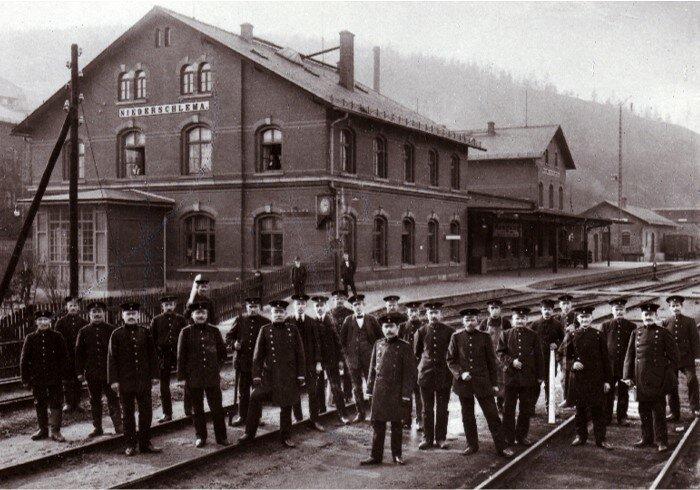 Bahnhof Bad Schlema um 1900