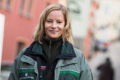 """Im ZDF-Film """"Erzgebirgekrimi - Der Tote im Stollen"""" spielte Teresa Weißbach eine Försterin, die zu einem fünfköpfigen Ermittlerteam gehört."""