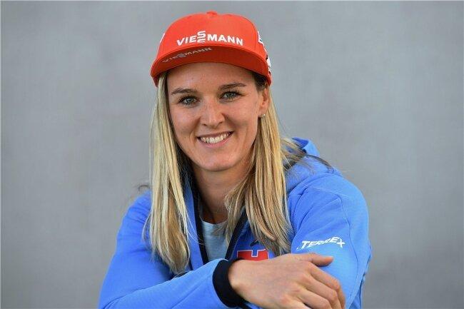 Biathletin Denise Herrmann kehrt mit Gold, Silber und Bronze aus Schweden heim