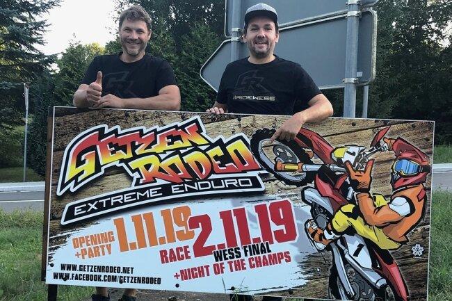 Falko Haase und Matthias Schubert vom Getzenrodeo-Verein erfüllen sich Traum