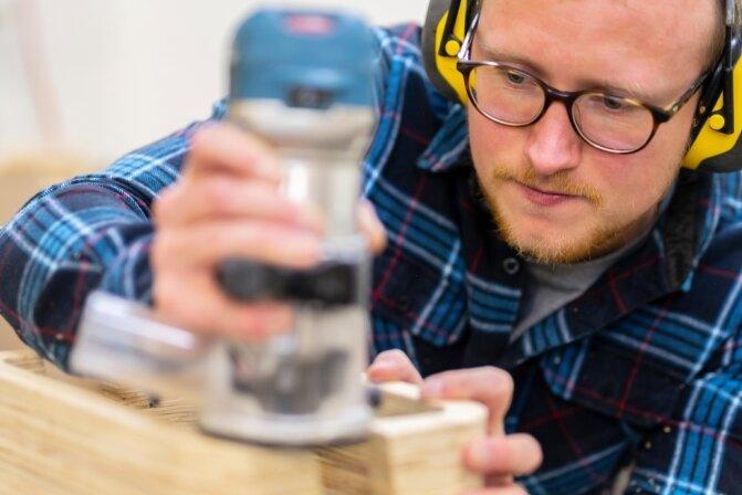 In seiner Werkstatt hat Sascha Reich für sich und Freunde Möbel entwickelt und gefertigt.