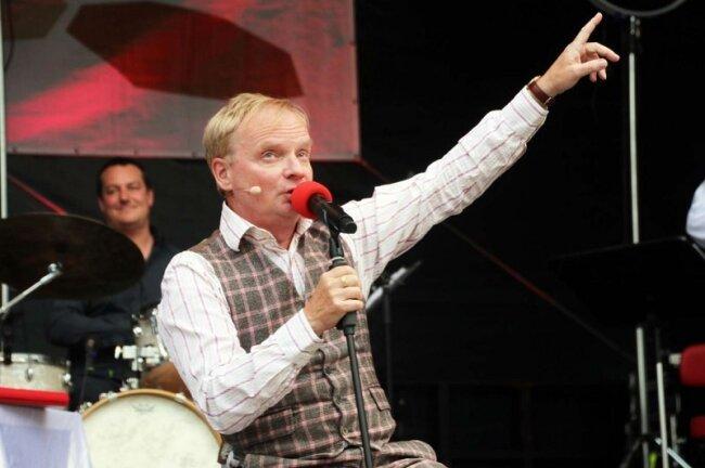 Uwe Steimle bei den Freiberger Sommernächten am Samstagabend.