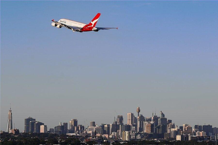 Qantas am Himmel.