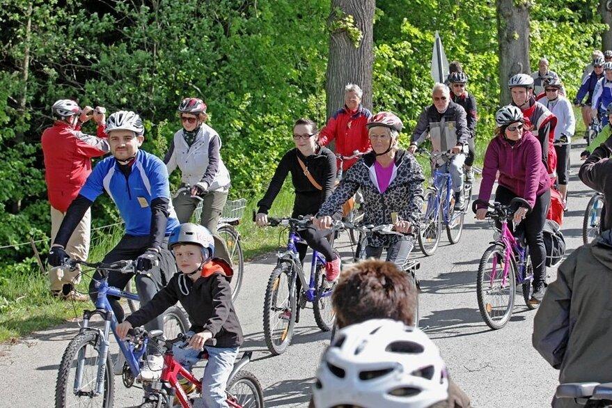 Der Radlersonntag zog vor Corona-Zeiten meist über 10.000 Fahrradfahrer an.