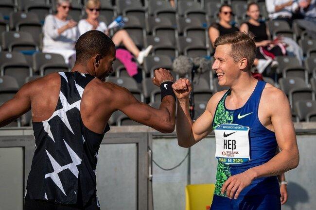 Beim Istaf im Sommer in Berlin lieferten sich Max Heß und der zweifache Olympiasieger Christian Taylor aus den USA ein packendes Duell in der Dreisprunggrube. Die Freude am schmerzfreien Springen und am Wettkampf stand dem Chemnitzer dabei ins Gesicht geschrieben.