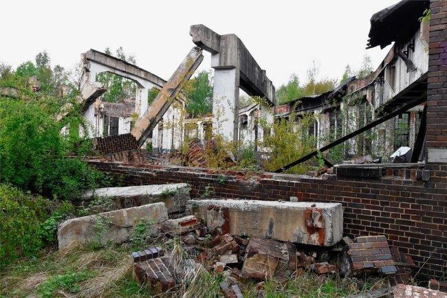Verfall prägt das ehemalige Bahnbetriebswerk Reichenbach.