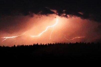 Warnung vor starken Gewittern in der Region