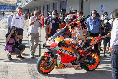 Rollt am Freitag wieder aus der Honda-Garage: der achtfache Weltmeister Marc Marquez.
