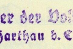 Zeugnisstempel aus den 1930er-Jahren.
