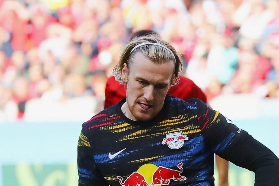 Emil Forsberg verwandelt den Strafstoß zum zwischenzeitlichen 1:0 für Leipzig.