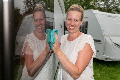 Heike Drawert aus dem Erlauer Ortsteil Theesdorf vermietet mit ihrer Firma Camper Queen Wohnmobile und verkauft diese außerdem. Die Branche erlebt momentan einen Boom, auch in Mittelsachsen.