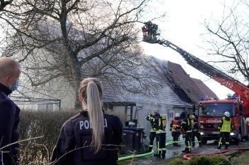 Am Sonntag hat der Anbau eines Wohnhauses in Zschöppichen gebrannt.
