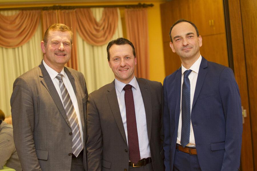 Frank Heidan, Jörg Schmidt und Lennart Schorch. (von links)