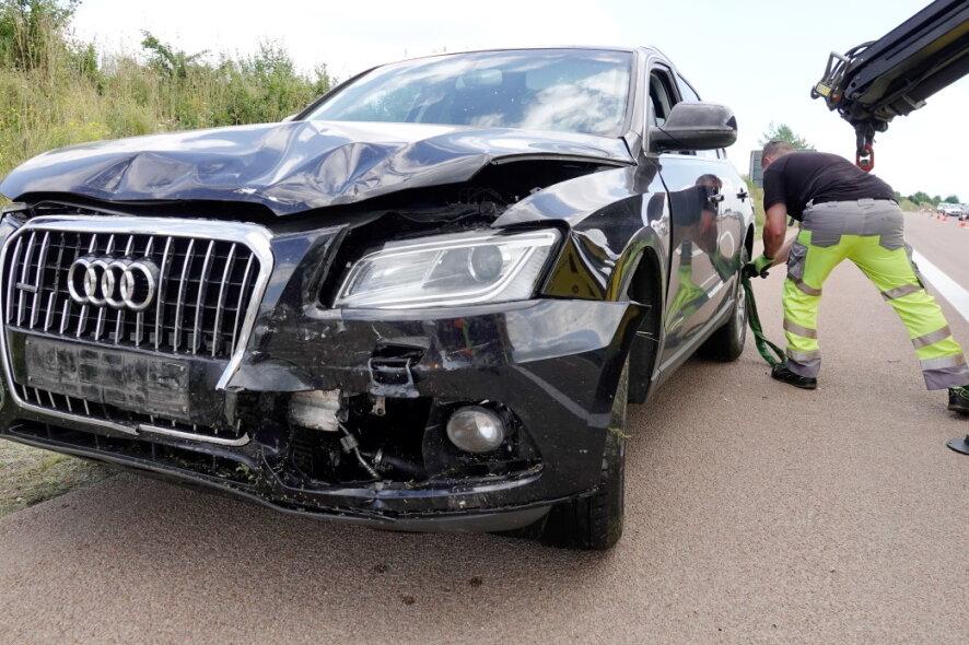 Bei einem Verkehrsunfall ist am Samstag ein Mann schwer verletzt worden.