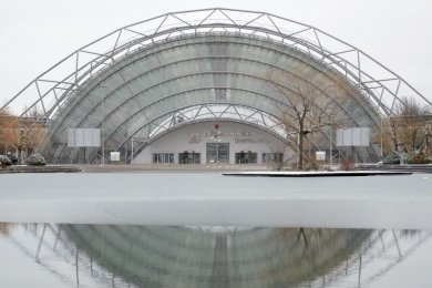 Die Glashalle der Leipziger Messe.