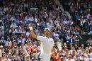 Djokovic feiert seinen Viersatz-Sieg im Viertelfinale