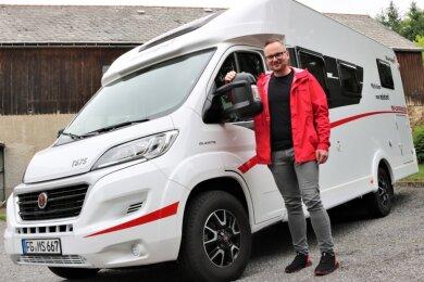 Der 31-jährige Marcus Kunath aus dem Eppendorfer Ortsteil Großwaltersdorf betreibt seit November 2019 eine Wohnmobil-Vermietung und verkauft die Fahrzeuge auch. Zurzeit boomt die Branche.