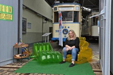 Die Projektverantwortliche Tina Winkel freut sich auf verrückte Ideen für den Garagen-Campus.